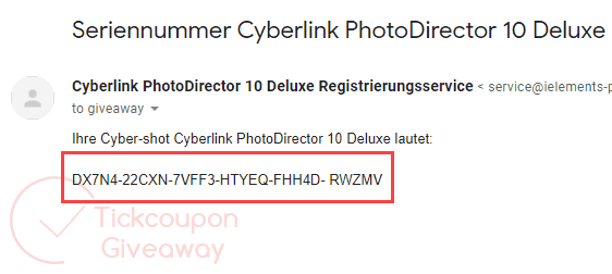 CyberLink PhotoDirector Deluxe 10 Free License Code