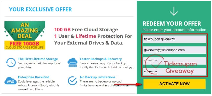 Get 100GB Lifetime Cloud Storage with Zoolz for FREE 2