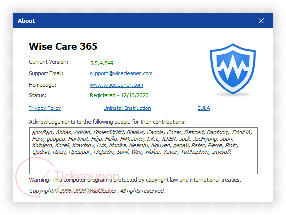 Wise Care 365 Pro Free License
