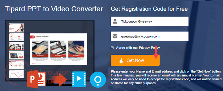 Tipard Ppt To Video Converter Giveaway Page