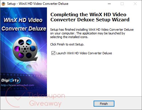 install winx hd video converter deluxe on your computer