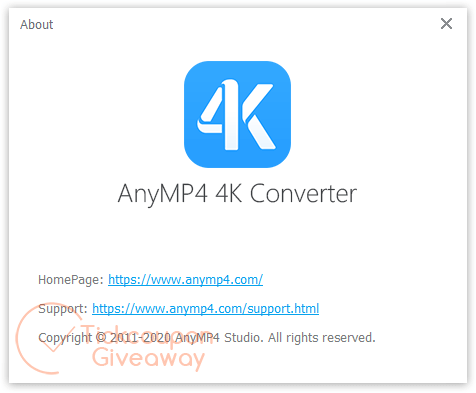 About AnyMP4 4K Converter